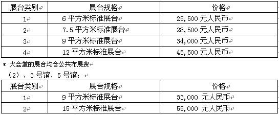 香港电子展参展费用
